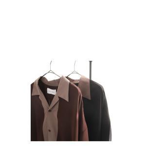 トップス シャツ メンズ 半袖 レーヨン バイカラー ユニセックス レトロバイカラーシャツ・メール便不可 antiqua 12