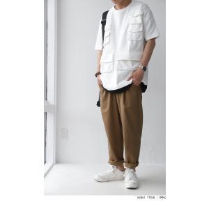 BIGバーゲン!期間限定開催!ボトムス パンツ メンズ ロングパンツ 長ズボン 綿麻タックパンツ・メール便不可(返品・キャンセル・交換不可)|antiqua|15