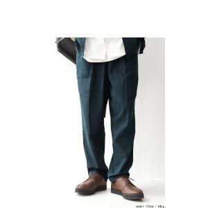 BIGバーゲン!期間限定開催!ボトムス パンツ メンズ ロングパンツ 長ズボン 綿麻タックパンツ・メール便不可(返品・キャンセル・交換不可)|antiqua|03