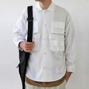トップス シャツ ジャケット 長袖 メンズ 綿 綿100 フィッシングシャツ・メール便不可|antiqua