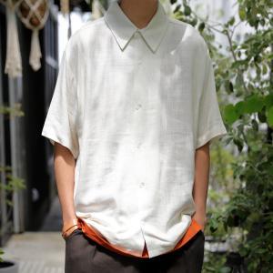クリアランスバーゲン!期間限定開催!トップス シャツ メンズ 半袖 麻 リネン レーヨン・100ptメール便可(返品・キャンセル・交換不可)|antiqua