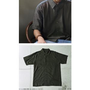 クリアランスバーゲン!期間限定開催!トップス シャツ メンズ 半袖 麻 リネン レーヨン・100ptメール便可(返品・キャンセル・交換不可)|antiqua|11