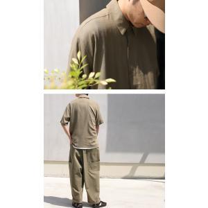 クリアランスバーゲン!期間限定開催!トップス シャツ メンズ 半袖 麻 リネン レーヨン・100ptメール便可(返品・キャンセル・交換不可)|antiqua|12