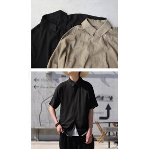 クリアランスバーゲン!期間限定開催!トップス シャツ メンズ 半袖 麻 リネン レーヨン・100ptメール便可(返品・キャンセル・交換不可)|antiqua|15