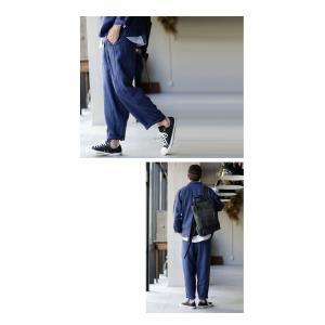 ボトムス パンツ メンズ 長ズボン テーパードパンツ リネンパンツ・メール便不可|antiqua|16