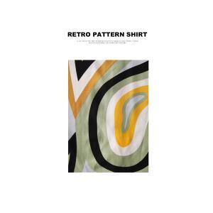 トップス シャツ 半袖 メンズ 総柄 配色 ユニセックス レトロ柄シャツ・50ptメール便可 antiqua 11