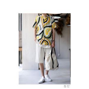 トップス シャツ 半袖 メンズ 総柄 配色 ユニセックス レトロ柄シャツ・50ptメール便可 antiqua 12