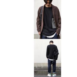 メンズ カジュアル アシメ ミニ裏毛アシメ切替えトップス・3月2日20時〜再再販。「G」(100)メール便可|antiqua|11