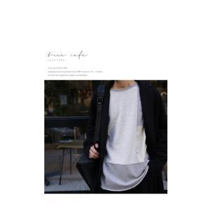 メンズ カジュアル アシメ ミニ裏毛アシメ切替えトップス・3月2日20時〜再再販。「G」(100)メール便可|antiqua|16