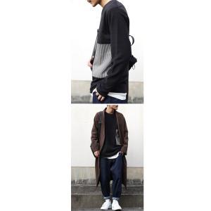 メンズ カジュアル アシメ ミニ裏毛アシメ切替えトップス・3月2日20時〜再再販。「G」(100)メール便可|antiqua|04