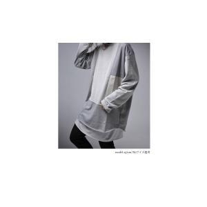 トップス 切り替え アシンメトリー ミニ裏毛アシメ切替えトップス。・10月6日20時〜発売。##メール便不可|antiqua|03