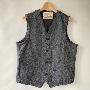 SUGAR CANE(シュガーケーン) 10oz.BLACK COVERT WORK VEST SC12795|antiquebeach