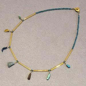 ご売約済み 古代ガラスのネックレス|antiquebeads3store