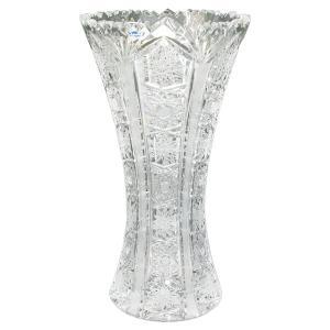 ボヘミアガラス クリスタル チェコ製  花瓶|antiquesjikoh