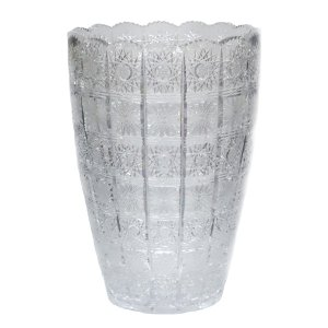 ボヘミアガラス 500PK チェコ製 クリスタル 花瓶|antiquesjikoh