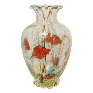 ヴェネチアングラス 花瓶 ラグーナ・ムラノガラス 1952年製|antiquesjikoh