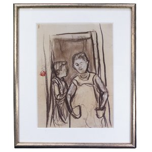 森田沙伊 デッサン画 「スペイン」 1号サイズ 絵画 額装|antiquesjikoh