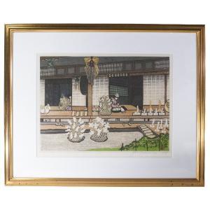 関野準一郎 木版画 「三春」 51/128 直筆サイン|antiquesjikoh