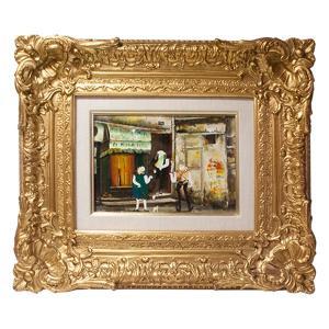 谷本ためひろ 「パリ下町好日」 油彩 SM号|antiquesjikoh
