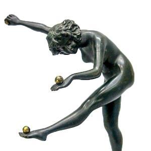 CL.J.R.COLINET(クレアジーン・ロバーツ・コリネット)「juggler」1925年 ブロンズ像 antiquesjikoh