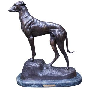 エドモンド・マソン Clovis Edmond Masson「グレイハウンド」 ブロンズ像 彫刻|antiquesjikoh
