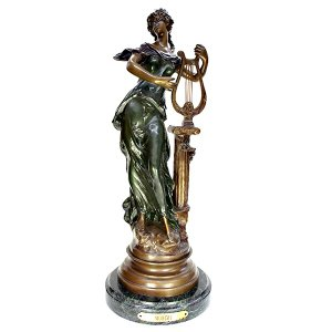 Auguste Moreau(オーギュスト モロー) Harpist (ハーピスト) ブロンズ像 antiquesjikoh