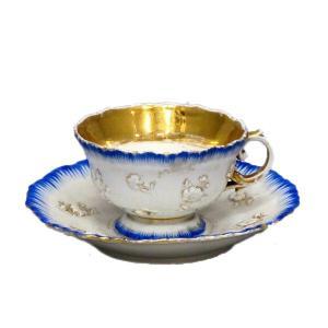 マイセン(MEISSEN)金彩 花柄 カップ&ソーサー|antiquesjikoh