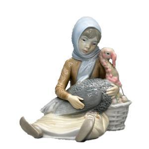 リヤドロ(lladro)七面鳥を抱える少女|antiquesjikoh