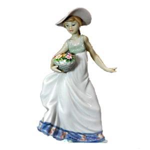 リヤドロ (lladro)春の花かご 5790|antiquesjikoh