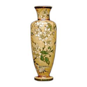 R.W.Martin Brothers 花瓶 「鳥花模様」1890年|antiquesjikoh