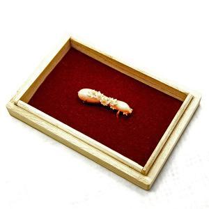 帯留 赤珊瑚 18金 桜文様|antiquesjikoh