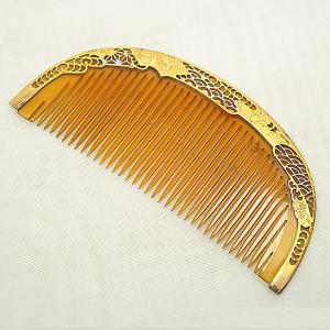 櫛(くし)鼈甲(べっこう)金彩 蒔絵|antiquesjikoh