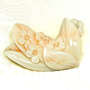 帯留 珊瑚 菫(すみれ)|antiquesjikoh