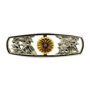 帯留 銀製 菊紋桔梗竹文様|antiquesjikoh