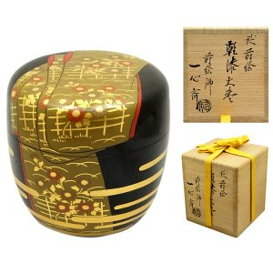 奥津一心斎 昭和10年に大阪市で生まれる。 蒔絵師の父・奥津洋方に師事。 東大阪工芸展入選他。