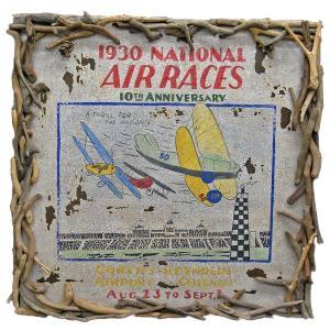ヴィンテージ加工 木製看板 「NATIONAL AIR RACE」|antiquesjikoh