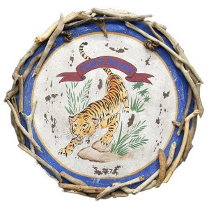 ヴィンテージ加工 木製看板「TIGER BRAND」|antiquesjikoh