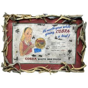 ヴィンテ ージ加工 木製看板「COBRA」|antiquesjikoh