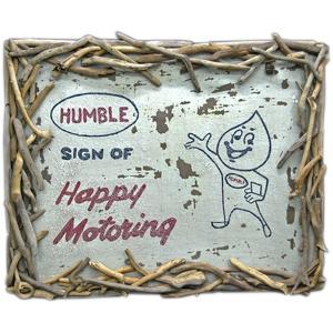 ヴィンテージ加工 木製看板 「HUMBLE」|antiquesjikoh