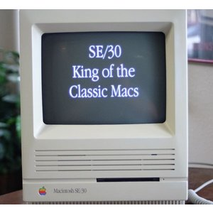 マッキントッシュ Apple Macintosh SE30 RARE SIGNED CASE Mac M5119 Computer Complete System Tested