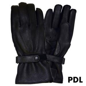 3シーズンロンググローブ/PDL ブラック、ブラウン/プレミアムディアシリーズ バイクグローブJRP...