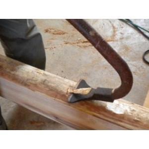 大工ちょうな 張娜 「daiku-37」 宮大工道具 ハマグリ刃100mm、全長143mm、重さ590g anyoujiya-1