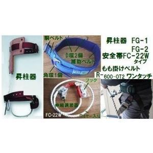 昇柱器(傾斜爪)「FG-2-08」「WP-FC-22W-M-LY250」ワンタッチ腿掛け「R-600-OT2」 藤井電工 ツヨロン|anyoujiya-1