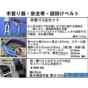 木登り器「FR-100」 品番「fujii-14」 安全帯 「WP-FC-22W-M-LY250」 腿掛けベルト「R-600-DG」 anyoujiya-1