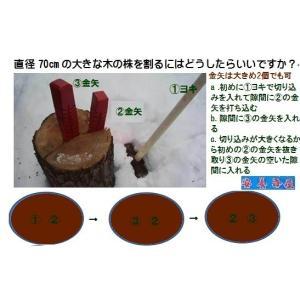 薪割りかなや 「kanaya2-13」 金矢2個売り (大)207mm 1480g  (小)193mm 1010g   クサビ 薪ストーブ|anyoujiya-1