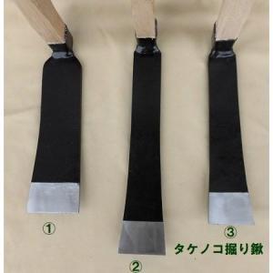 タケノコ掘り鍬(3) 「takenokohori-kuwa-3」筍掘り 刃巾:86mm 全長:270mm 柄付重さ:2050g 竹の子掘り起こしクワ  たけのこ  刃長|anyoujiya-1