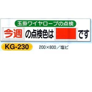 玉掛ワイヤーロープの点検色 表示板 KG-230|anzen-signshop