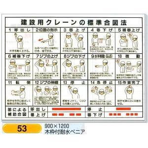 建設用クレーンの標準合図法 表示板 図入り 53|anzen-signshop