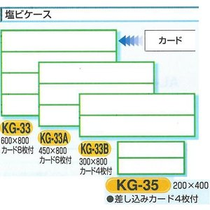安全掲示板部品 安全掲示板用パーツ 塩ビケース(カード差込み)2段 300*800 KG-33B|anzen-signshop