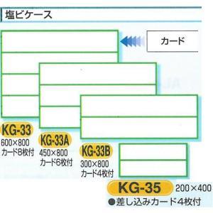 安全掲示板部品 安全掲示板用パーツ 塩ビケース(カード差込み)2段小 200*400 KG-35|anzen-signshop